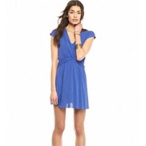 Free People NWT Cupro Blue Criss Cross Mini Dress